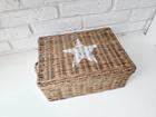 Rustykalny Kosz Pojemnik Rattanowy Hampton White Star (5)