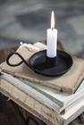 Świecznik Metalowy Czarny Retro Z Uchwytem IB LAURSEN (2)