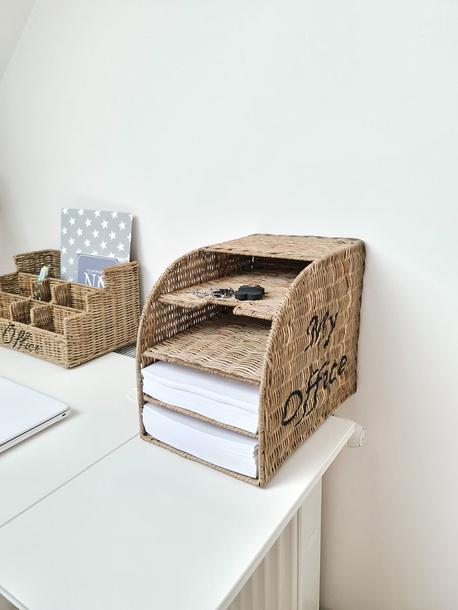 Rustykalny stojak  Rattanowy Hampton Do Przechowywania Dokumentów (1)