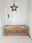 Rustykalna Duża Skrzynia Kufer Rattan Hampton Long Island (3)