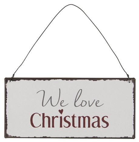 Metalowa Tabliczka We Love Christmas IB Laursen (1)