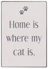 Metalowa Tabliczka Home Is Where My Cats Is IB Laursen (1)