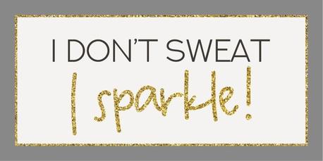 Metalowa Tabliczka Magnes I Don't Sweat I Sparkle IB Laursen (1)
