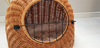 Transporter Wiklinowy naturalny z beżowym kocykiem Dla Psa,Kota -Duży ( York, Maltańczyk, Shih Tzu, Maine Coon ) (3)