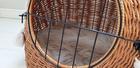 Transporter Wiklinowy naturalny z beżowymi chwostami Boho Dla Psa,Kota -Duży ( York, Maltańczyk, Shih Tzu, Maine Coon ) (4)