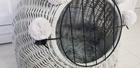 Transporter Wiklinowy w kolorze szarym z szarymi pomponami  Dla Psa,Kota -Duży ( York, Maltańczyk, Shih Tzu, Maine Coon ) (5)