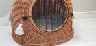 Transporter Wiklinowy naturalny z szarymi chwostami Boho Dla Psa,Kota -Duży ( York, Maltańczyk, Shih Tzu, Maine Coon ) (2)