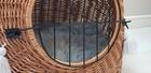 Transporter Wiklinowy naturalny z szarymi chwostami Boho Dla Psa,Kota -Duży ( York, Maltańczyk, Shih Tzu, Maine Coon ) (3)