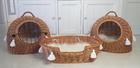 Transporter Wiklinowy naturalny z białymi chwostami Boho Dla Psa,Kota -Duży ( York, Maltańczyk, Shih Tzu, Maine Coon ) (3)
