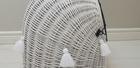 Transporter Wiklinowy w kolorze białym z białymi chwostami Dla Psa,Kota -Duży ( York, Maltańczyk, Shih Tzu, Maine Coon ) (5)