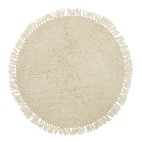 Bloomingville dywan naturalny z frędzlami Wełna 110 cm Nature (1)