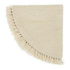 Bloomingville dywan naturalny z frędzlami Wełna 110 cm Nature (2)