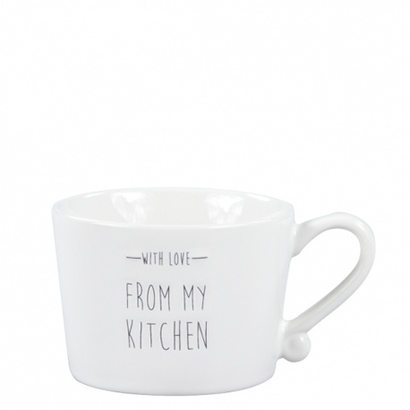 Kubek Filiżanka White/with love from my kitchen in Black Bastion Collections  (1)