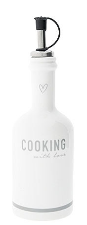 Butelka Ceramiczna Cooking With Love Grey Bastion Collections  (1)