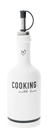 Butelka Ceramiczna Cooking With Love Black Bastion Collections  (1)