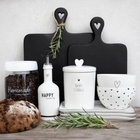 Butelki Ceramiczne Komplet Happy Cooking/Cookin With Love Grey Bastion Collections  (4)