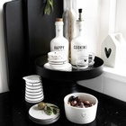 Butelki Ceramiczne Komplet Happy Cooking/Cookin With Love Black Bastion Collections  (5)
