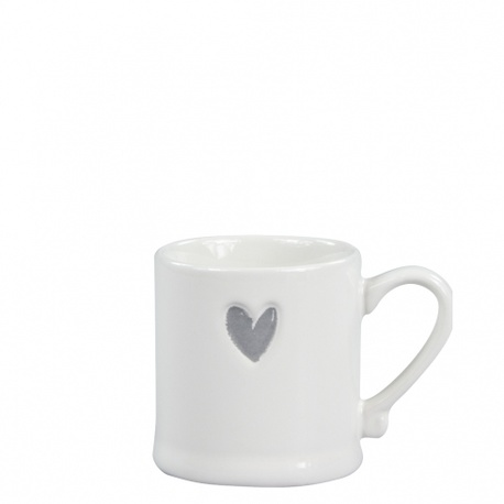 Kubek Espresso White Heart in Grey Bastion Collections  (1)