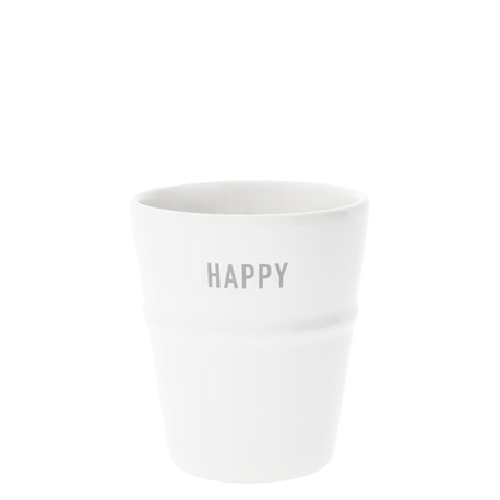 Kubek White/Happy in Grey Bastion Collections  (1)