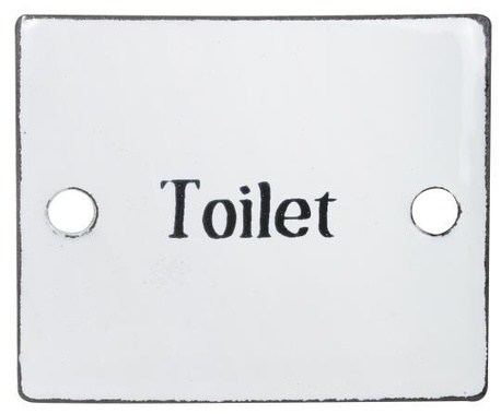 Tabliczka metalowa zawieszka biała Toilet IB Laursen (1)