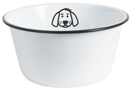 Emaliowana Miska Dla Psa Biała IB Laursen (1)