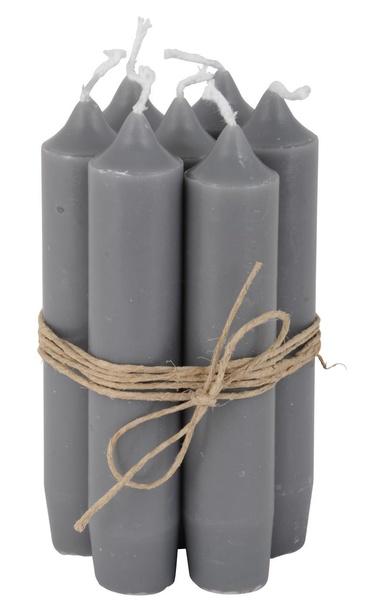 Zestaw 6 Świeczek Szarych IB Laursen (1)