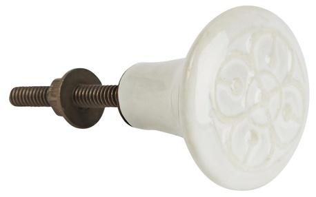 Gałka ceramiczna biała IB Laursen (1)