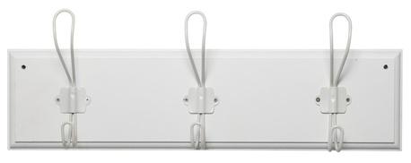 Wieszak Drewniany Biały z 3 Metalowymi Haczykami IB Laursen (1)