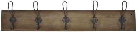 Wieszak Drewniany Brązowy z 5 Metalowymi Haczykami IB Laursen (1)