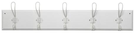 Wieszak Drewniany Biały z 5 Metalowymi Haczykami IB Laursen (1)