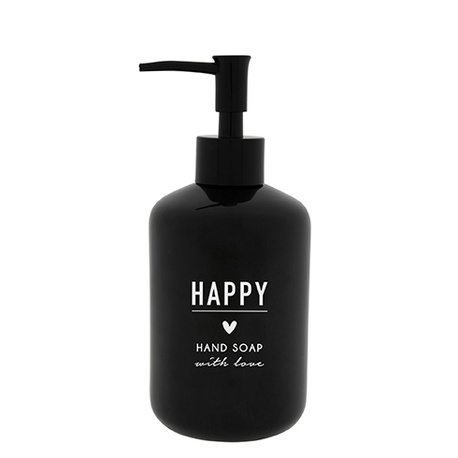 Dozownik Mydła Happy Hand Soap Black BASTION COLLECTIONS (1)