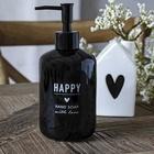 Dozownik Mydła Happy Hand Soap Black BASTION COLLECTIONS (3)