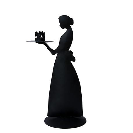 Metalowy Świecznik Lady Black 32 cm Bastion Collections (1)