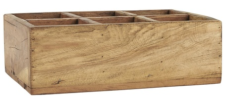 Drewniana skrzyneczka z 6 Przegródkami Unique IB Laursen (1)