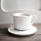 Talerzyk White/Heart in Grey Bastion Collections (2)
