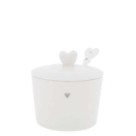 Cukierniczka Heart & Spoon Grey z Łyżeczką Bastion Collections (1)