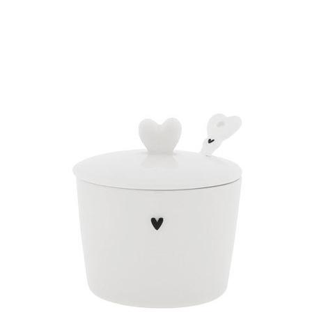Cukierniczka Heart & Spoon Black z Łyżeczką Bastion Collections (1)