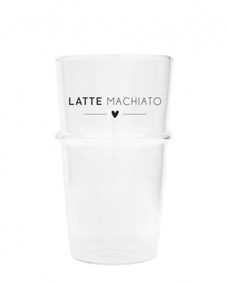 Szklanka Do Latte Machiato/Heart Black Bastion Collections (1)