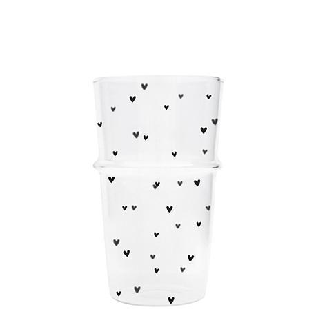 Szklanka Do Latte/Heart Black Bastion Collections (1)