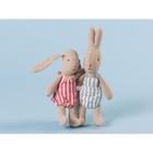 Królik Króliczek Blue Striped Micro Rabbit Maileg (4)