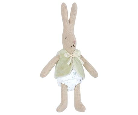 Królik Króliczek W Zielonej Kamizelce Micro Rabbit Maileg (1)