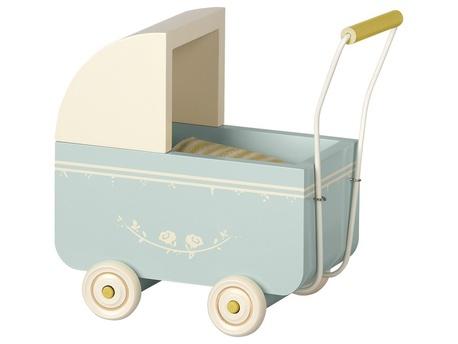 Wózek Wózeczek Drewniany Blue MICRO Maileg  (1)