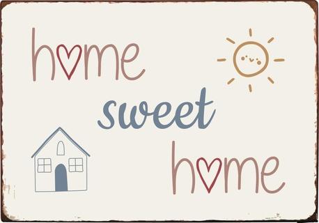Metalowa Tabliczka Home Sweet Home IB Laursen (1)