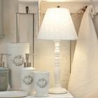 Drewniana Lampa Stołowa Biała Prowansalska Clayre & Eef (2)