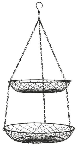 Metalowy Wieszak Kuchenny z 2 Okrągłymi Koszykami IB Laursen (1)