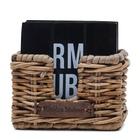 Drewniane Czarne Podkładki Rustic Rattan Club 48 Coasters Riviera Maison  (3)