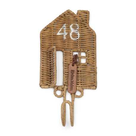 Rattanowy Wieszak Rustic Happy Home Hook Riviera Maison (1)