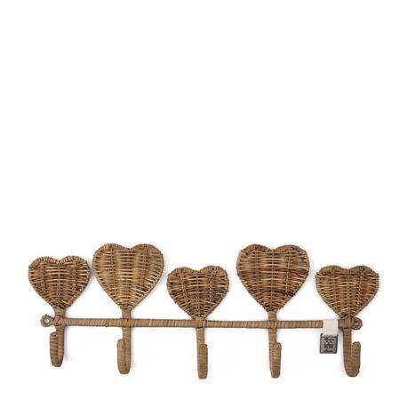 Rattanowy Wieszak Rustic Pretty Hearts Riviera Maison (1)