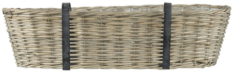 Kosz Wiklinowy Balkonowy Owalny z Uchwutami IB LAURSEN (1)
