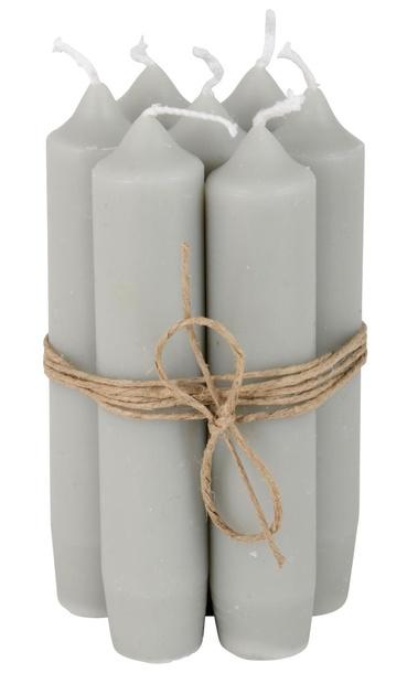 Zestaw 6 Świeczek Jasnoszarych IB Laursen (1)